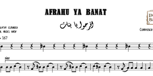 Afrahu Ya Banat Music Sheet