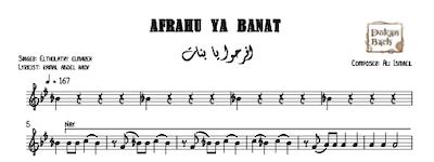 Afrahu Ya Banat Music Sheet