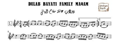 Dulab Bayati family maqam music sheet