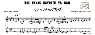 Kol Elnas Beyqulu Ya Rab Music Sheet