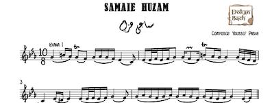 Samaei Huzam Youssef Pasha music sheet