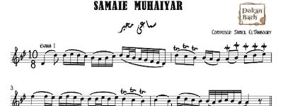 Samaei Muhaiyar music sheet