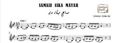 Samaei Sika Mayah-Osman Bek Music Sheet