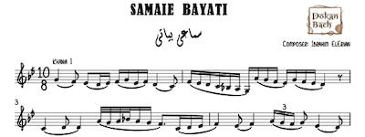 Samaei bayati-eleryan music sheet
