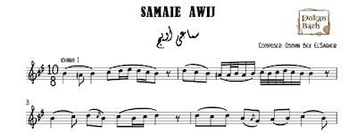 Samaie Awij Music Sheet