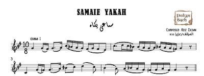 Samaie Yakah Aziz Dedah Music Sheet