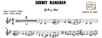 Sebhit Ramadan Music Sheet