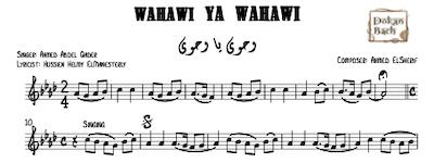 Wahawi ya Wahawi Music Sheet