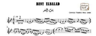 Bent ElBalad - Abdelwahab Music Sheet