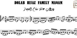Dolab Hijaz Family Maqam Music Sheet