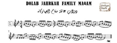 Dolab Jahrkah Family Maqam Music Sheet