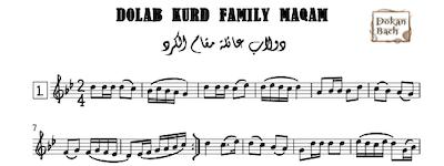 Dolab Kurd Family Maqam Music Sheet