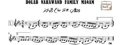Dolab Nahawand Family Maqam Music Sheet