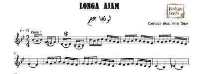 Longa Ajam-AbdelFattah Sabry Music Sheet