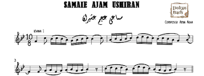 Samaei Ajam Ushiran-Amin Agha Music Sheet