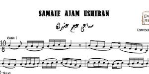 Samaei Ajam Ushiran-Aref Bek Music Sheet