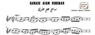 Samaei Ajam Ushiran Music Notes