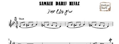 Samaei Darij Hijaz Music Sheet