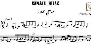 Samaei Hijaz Yousef Pasha Music Sheets
