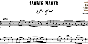 Samaei Mahour - Music Sheet
