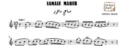 Samaei Mahour - Music Sheet