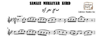 Samaie Muhaiyar Kurd Music Notes