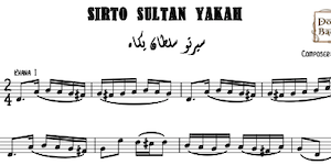 Sirto Sultan Yakah Music Sheets
