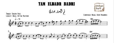 Tam ElBadr Badri Music Sheets
