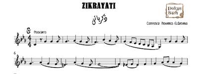 Zikrayaty-Music Sheet