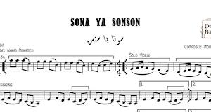 Sona Ya Sonson-Free - سونه يا سنسن Music Sheets